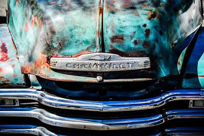 Chevrolet Truck Photograph - Chevrolet Truck Grille Emblem -0839c1 by Jill Reger