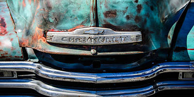American Cars Photograph - Chevrolet Truck Grille Emblem -0839c2 by Jill Reger