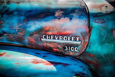 Chevrolet Truck Side Emblem -0842c1 Art Print