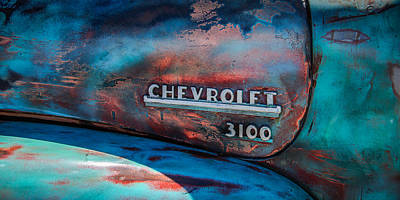 American Cars Photograph - Chevrolet Truck Side Emblem -0842c2 by Jill Reger