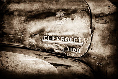 Chevrolet Truck Side Emblem -0842s1 Art Print