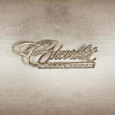 Classic Car.hot-rod Photograph - Chevrolet Vega Emblem by YoPedro