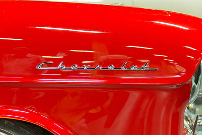 Barrett Jackson Wall Art - Photograph - Chevrolet by Wayne Vedvig
