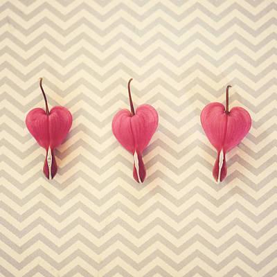 Photograph - Chevron Hearts by Robin Dickinson