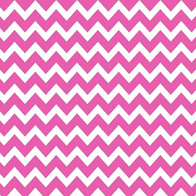 Choosing Digital Art - Chevron Pattern - Pick Your Color by Mark E Tisdale