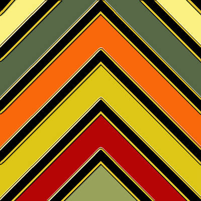 Digital Art - Chevrons With Color by Chuck Staley