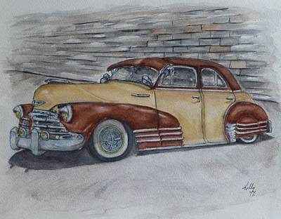 Painting - Chevy 1948 Fleetline Lowrider by Kelly Mills