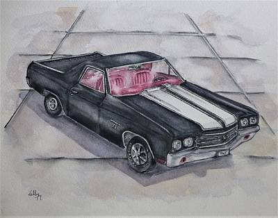 Painting - Chevy 1970 El Camino by Kelly Mills