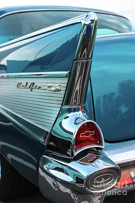 Photograph - Chevy Bel Air Tail Fin by Colleen Kammerer