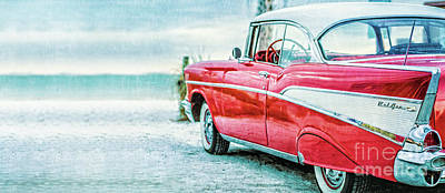 Photograph - Chevy Belair At The Beach Mug by Edward Fielding