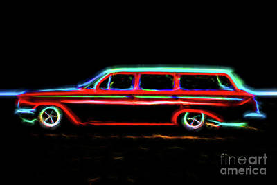 Photograph - Chevy Brookwood Stationwagon by Steven Parker