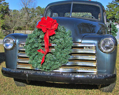 Photograph - Chevy Christmas by Victor Montgomery