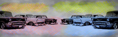 Photograph - Chevy Classics by Steve McKinzie