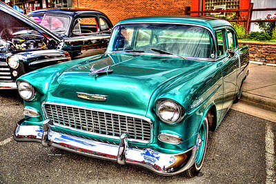 Chevy Cruising 55 Art Print