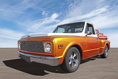 Photograph - Chevy Custom C10 Stepside by Gill Billington