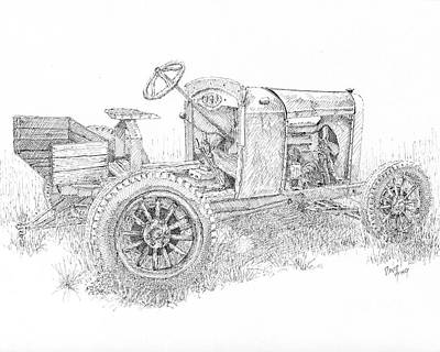 Drawing - Chevy Doodlebug by David King
