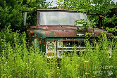 Photograph - Chevy Dump Truck by Alana Ranney