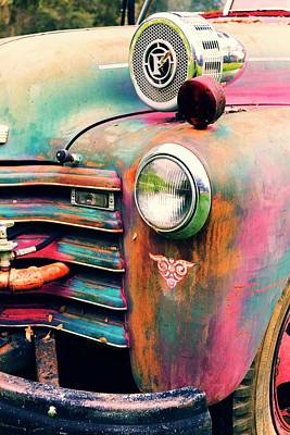 Photograph - Chevy Firetruck  by Ayasha Loya