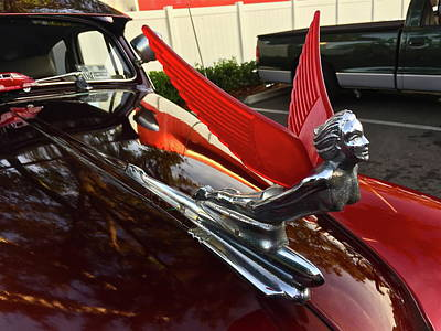 Photograph - Chevy Fleetline Hood Ornament by Denise Mazzocco