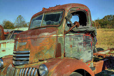 Photograph - Chevy From Liberal, Kansas by Jerry Gammon