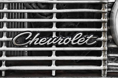 Photograph - Chevy Grill by Sharon Popek
