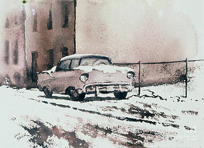 Chevy In Snow Original by Donald Maier