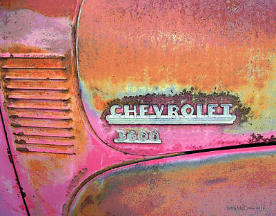 Chevy Lines Art Print by Jerry McElroy