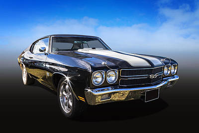 Chevy Muscle Art Print by Keith Hawley