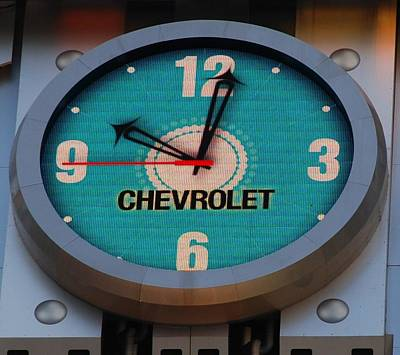 Photograph - Chevy Neon Clock by Rob Hans