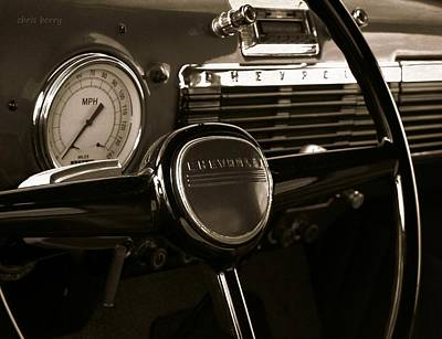 Photograph - Chevy Pick Up Steering Wheel by Chris Berry