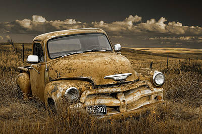 Photograph - Chevy Pickup Truck On The Prairie by Randall Nyhof