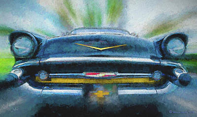 Chevy Power Print by Marvin Spates