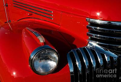 Photograph - Chevy Red by Linda Bianic