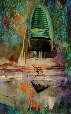 Digital Art - Chevy Tail by Greg Sharpe