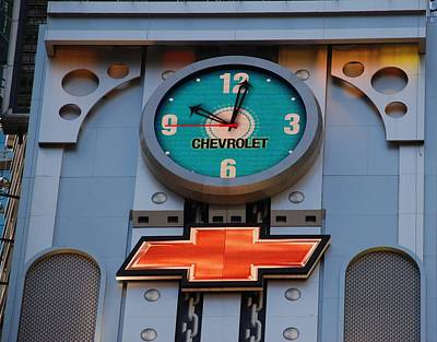 Photograph - Chevy Times Square Clock by Rob Hans