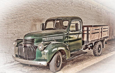 Old Trucks Digital Art - Chevy Truck by Ches Black
