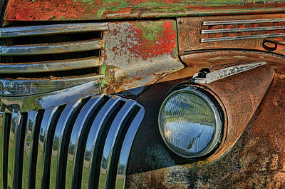 Photograph - Chevy Truck - Detail 1 by Nikolyn McDonald