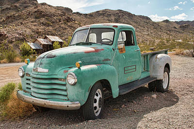 Photograph - Chevy Truck In The Desert by Kristia Adams