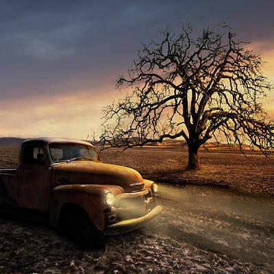 Photograph - Chevy Truck In The Utah Salt Flats by Eleanor Caputo