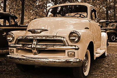 Photograph - Chevy Truck by John Flack