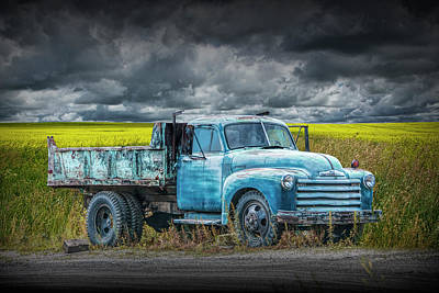 Photograph - Chevy Truck Stranded By The Side Of The Road by Randall Nyhof