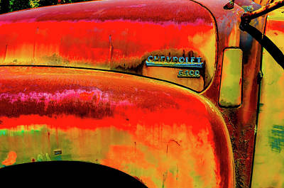 Photograph - Chevy Truck With Rust by Craig Perry-Ollila