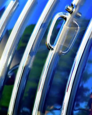 Photograph - Chevy Wagon Tailgate Detail by Jerry Sodorff