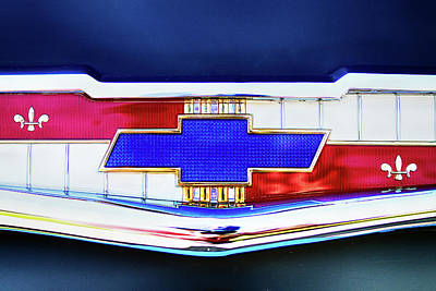 Photograph - Chevy's Fifties Bowtie by Rospotte Photography