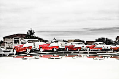 Photograph - Chevys On Parade by Mark David Gerson