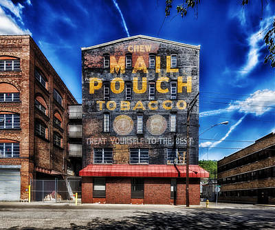 Mail Pouch Photograph - Chew Mail Pouch Tobacco - Warehouse Wheeling West Virginia by Mountain Dreams