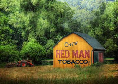 Chew Red Man Art Print by Lori Deiter