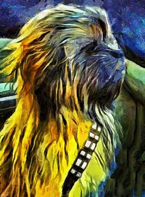 Hunting Digital Art - Chewbacca Dog - Da by Leonardo Digenio