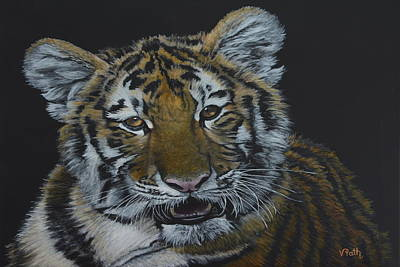 Painting - Chewie The Siberian Tiger by Vicky Path