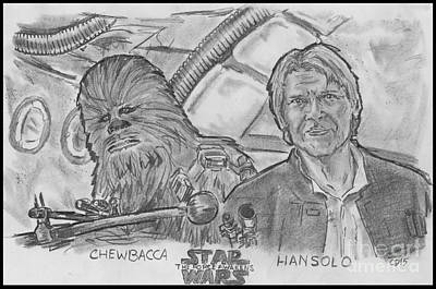 Drawing - Chewie Were Home by Chris  DelVecchio